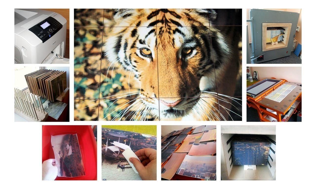 Изготовление фотоплитки: мини-заводы по производству